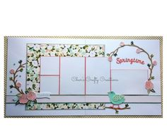 CTMH Hello Lovely Springtime layout by Char's Crafty Creations. Also uses the Flower Market Cricut collection.