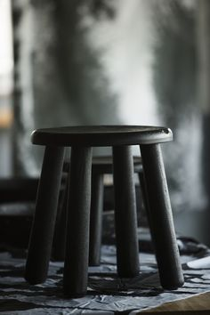 the beauty of monochrome - black stool inspired by India