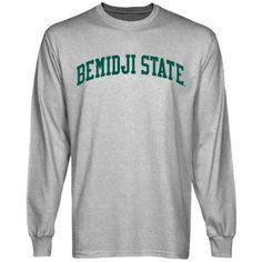NCAA Bemidji State Beavers Basic Arch Long Sleeve T-Shirt - Ash  $24.95