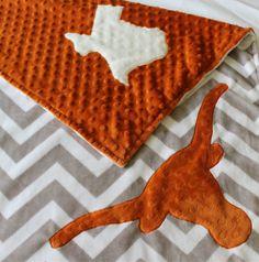 Texas Baby Blanket Longhorn Baby Blanket by TheAmberRoseEmporium