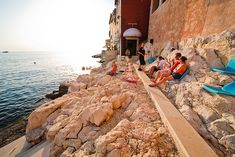 """Cocktailbar Valentino, Rovinj, Croatia """"On the rocks"""" means something different here..."""