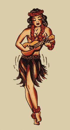 37 Best Sailor Jerry Hula Girl Tattoo Designs Images Hula Girl