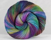 Sock Hand Dyed 80/20 Bluefaced Leicester SW/Nylon Fingering Weight Yarn - 2ply High Twist - 100 grams - 366m/400yards - Fairy Land