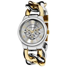 Akribos XXIV Women's Twist Chain Quartz Multifunction Watch
