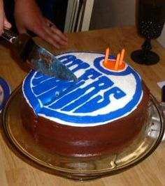 Edmonton Oilers birthday cake Dans birthday Pinterest