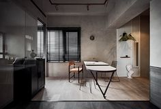 Cheese on Behance Arch Interior, Interior Design, Clutter Free Home, Behance, Minimal Home, Dining Area, Minimalism, Living Room, Table