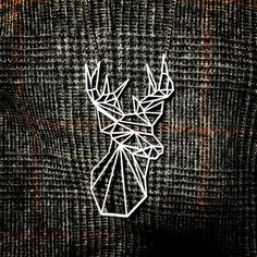 Geometric Low Poly Stag Deer necklace by missJdesigns on Etsy