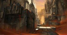 ArtStation - Martian bunkers, Max Bedulenko