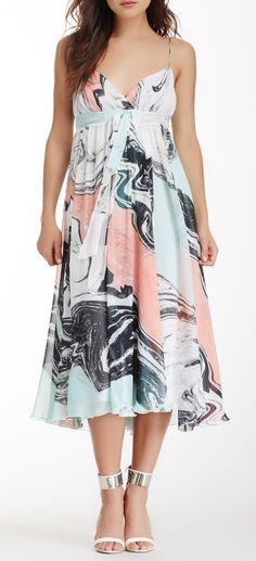 Diane von Furstenberg Jolie Tie Waist Printed Silk Dress