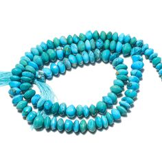 Turquoise Button Beads, Turquoise Rondelle Beads/ 5mm Turquoise Beads/ 13 Inch Strand, SKU-B13 by GemsForJewels24 on Etsy