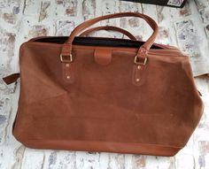 1e67e2e93d8 ... super popular 2f3d6 afa7d Lagerfeld Doctor Bag Weekender Brown Large  Travel 21 in x 15 LAGERFELD ...