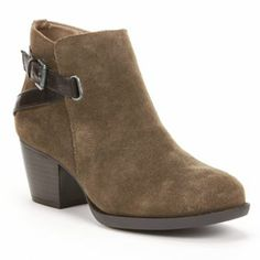SONOMA life + style Suede Ankle Booties - Women