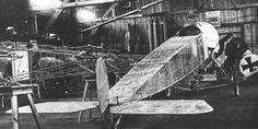 "On a Fokker E.III a new ""invisible camouflage"" is tested with cellon cover. Fokkerwerke Schwerin, Halle 6, 1915"