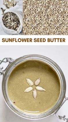 A delicious sunflower seed butter recipe (sunbutter) w/ ONE ingredient! Plus the health benefits of sunflower seeds, flavoured sunbutter options and uses! Good Healthy Recipes, Healthy Foods To Eat, Healthy Snacks, Vegan Recipes, Healthy Meats, Sunflower Seed Butter Recipes, Sunflower Butter, Comida Diy, Dessert