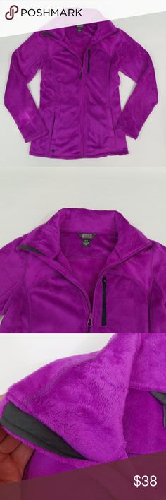 "OUTDOOR RESEARCH Fleece Jacket High-Loft Purple Full Zip Up Plush Women's Size S  Plush, soft, cozy and warm, the high-loft fleece Casual Jacket invites you to wrap yourself in fuzzy winter comfort. The high collar adds style for downtown trips and keeps cold gusts at bay, and the handwarmer pockets provide respite from biting gusts.  Retail $95  (Measurements laying flat) Chest: 18"" Length: 25"" Sleeve: 24""  Please message me with any questions.  Check out my other items! Outdoor Research…"