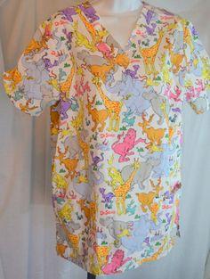 Women's Nurses Dr. Seuss Scrubs Top Smock   Clothing, Shoes & Accessories, Uniforms & Work Clothing, Scrubs   eBay!
