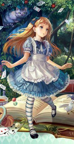Character Aesthetic 344877283948177600 - Alice et le chat de Cheshire Source by nonorcamus Art Manga, Manga Anime, Anime Art, Anime Disney, Disney Art, Art Fairy Tail, Fairy Tales, Draw Chibi, Kawaii Anime