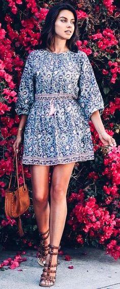 #summer #trending #fashion | Fun Floral Little Dress