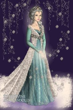 The Snow Queen ~ by AndraB ~ created using the LotR Hobbit dress up game | DollDivine.com
