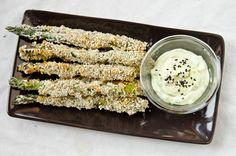 Sesame Asparagus Fries with Wasabi Mayo