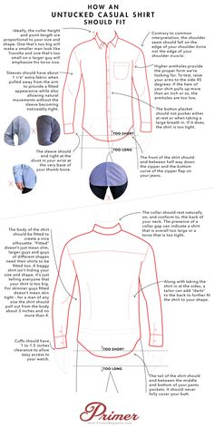 How an Untucked Casual Shirt Should Fit – A Visual Guide | Primer