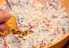 "known as Tailgate Dip. After spotting the recipe twice, and with two different names, I thought I must give it a try! I think I like the title of ""Skinny"" Poolside Dip better anyway! We were having a get together at my parents the Saturday before Father's Day, so I thought"