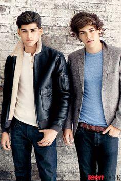Zayn Malik and Harry Styles