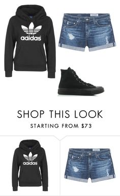 Designer Clothes, Shoes & Bags for Women Cute Outfits With Shorts, Emo Outfits, Short Outfits, Adriano Goldschmied, Converse, Scene, Adidas, School, Polyvore