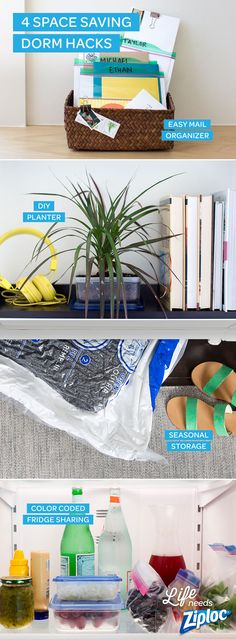 Check out these tricks to help with sharing space, containing chaos, and organizing in cramped spaces, all from Ziploc®!