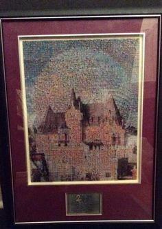 Disney Framed Photomosaic Epcot Canada Pavilion Sleeping Beauty Lmtd Ed Pins #WaltDisneyworld