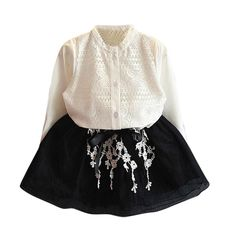 74c74b24d 2pcs set girls clothes set Toddler Kids Baby Girls Outfits Clothes Lace  Shirt Tops+Bowknot Tulle Skirt Set drop shipping