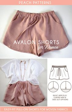 Avalon Shorts PDF Sewing Pattern for Women – Peach Patterns