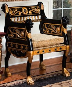 Ancient Chair Hand-Carved
