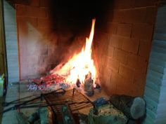 Cooking in the fireplace :)