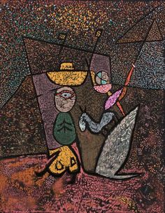 The Travelling Circus - Paul Klee Style: Surrealism Period: Late Works Genre: genre painting Technique: lithography Dimensions: 63.6 x 49.3 cm Gallery: São Paulo Museum of Art, São Paulo, Brazil