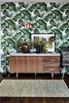 35 Adorable Tropical Leaf Decor Stylish Home Design Ideas trending Interior Tropical, Tropical Home Decor, Tropical Houses, Tropical Furniture, Tropical Colors, Tropical Prints, Palm Print, Tropical Leaves, Tropical Kitchen