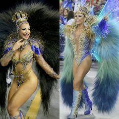 Carnival Dancers, Carnival Girl, Brazil Carnival, Carnival Outfits, Carnival Costumes, Girl Costumes, Dance Costumes, Showgirl Costume, Samba Costume