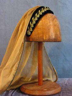 veiled Renaissance headband