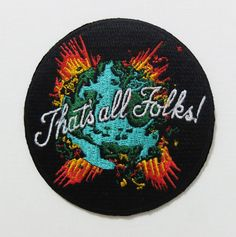 Iron on embroided patch for the coming apocalypse.. Get it while you can...
