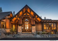 O entry with trusses 513MartisCamp11.jpg | Vance Fox Photography