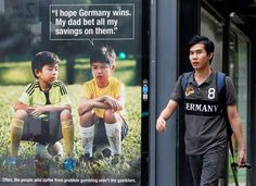 good people around the world   Singapore anti-gambling ad mum on where dad will bet next