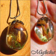 Real mushroom necklace http://www.miglichka.com/