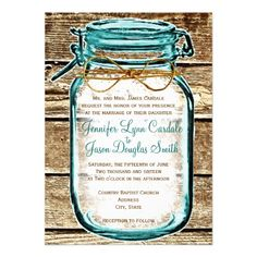Teal Mason Jar Wood Rustic Wedding Invitations we are given they also recommend where is the best to buyReviewplease follow the link to see fully reviews...