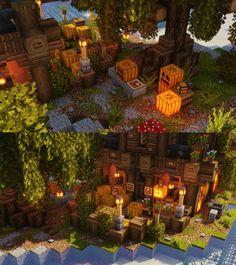 Pumpkin Shop layout by u/moonzenry Villa Minecraft, Architecture Minecraft, Minecraft Shops, Art Minecraft, Minecraft Cottage, Minecraft Interior Design, Cute Minecraft Houses, Minecraft Plans, Minecraft House Designs