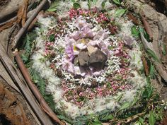 Designed from natural items found around the school yard
