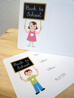 Free back to school party printables! Check out the whole adorable collection... free back to school party printables