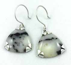 ARRANGEMENT, sterling silver earrings with agate by #POLAOSLO Design at www.polaoslodesign.com