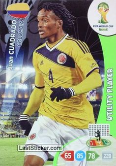 Card 83: Juan Cuadrado - Panini FIFA World Cup Brazil 2014. Adrenalyn XL - laststicker.com