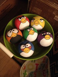 #Angrybirds backyard party mini playground balls #diy #handpainted #orientaltrading
