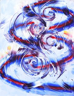 Entenrakai : Moving Spiral, Rotating Circles. In Memory of Yutaka Matsuzawa Op.12  2006-2007  65cm×50cm